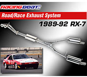Racing Beat Road Race Exhaust System 1989-1992 Mazda RX-7 Non-Turbo