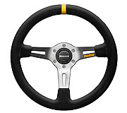 Momo MOD.08 350MM Leather/Black Spoke Racing Steering Wheel