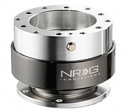 NRG Quick Release Kit Gen 1.0 (Silver Body / Black Chrome Ring)