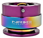 NRG Quick Release Kit Gen 2.0 (Purple Body / Neochrome Ring)