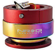 NRG Quick Release Kit Gen 2.0 (Red Body / Neochrome Ring)