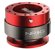 NRG Quick Release Kit Gen 2.0 (Red Body / Titanium Chrome Ring)
