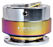 NRG Quick Release Kit Gen 2.0 (Shiny Silver Body / Neochrome Ring)